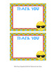 Emoji Flat Thank You Note Cards