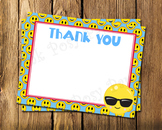 Emoji Flat Thank You Note Cards