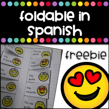 Emoji Foldable in Spanish - Freebie