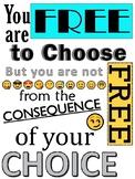 """Emoji """"Free to choose..."""" Quote Poster PDF"""