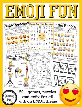 Emoji Fun and Games - Fine, Gross and Visual Motor Activities