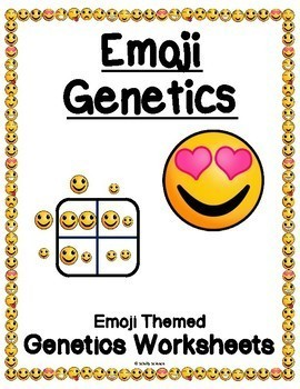 Emoji Punnett Squares Worksheet (Genetics, Genotype, Phenotype)