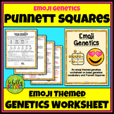 Emoji Punnett Squares Worksheet (Genetics, Genotype, Phenotype)