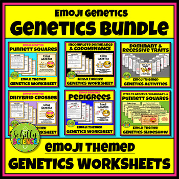 Emoji Genetics Worksheet Bundle