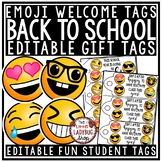 Emoji Theme Gift Tags Back to School & Welcome Note for St