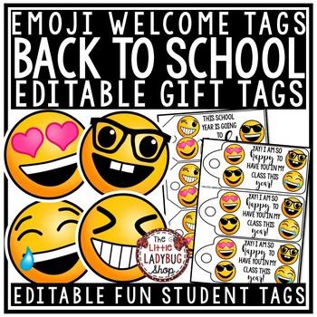 Emoji Gift Tags EDITABLE  • Emoji Back to School