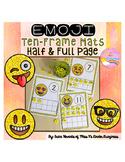 Emoji Glitter Ten-Frame Cards #'s 1-20