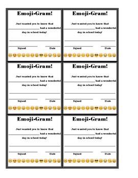Emoji Gram Positive Behavior Note