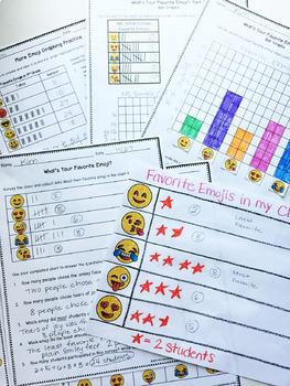 Emoji Graphs & Data Project {Charts, Pictographs, Bar Graphs}