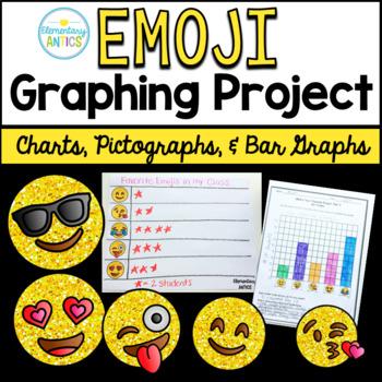 Emoji Graphs and Data Project {Charts, Pictographs, Bar Graphs}
