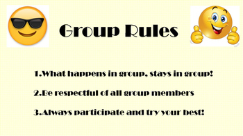 Emoji Group Counseling Rules Sign
