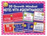 Growth Mindset Notes Encouragement Notes Emoji #GrowthMindset - 30 Different