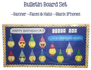 Emoji Happy Birthday Bulletin Board Set