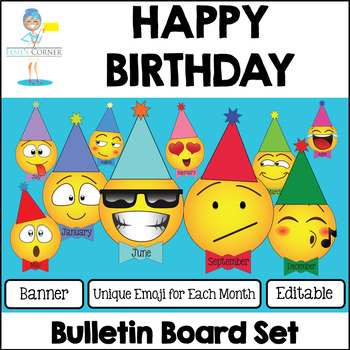 Emoji Happy Birthday Bulletin Board Set By Elsies Corner