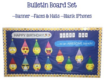 Emoji Happy Birthday Bulletin Board Set