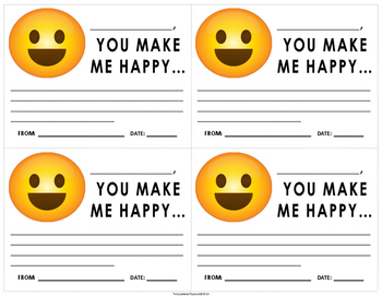 """Emoji """"Happy"""" Motivation Note"""