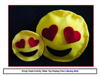 Emoji Heart No Sew Pillow Art Activity Kit from Library Arts