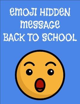 Emoji Hidden Message - Back To School