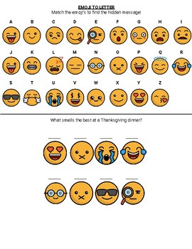 Emoji Hidden Message - Thanksgiving