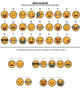 Emoji Hidden Message - Valentines Day