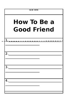 """Emoji """"How to be a Good Friend"""" Writing Activity"""