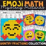 Emoji Identifying Fractions Worksheets   Fractions Color by Number