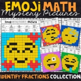 Emoji Identifying Fractions Mystery Pictures | Fractions C
