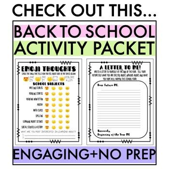 Emoji Interest Inventory: Back to School