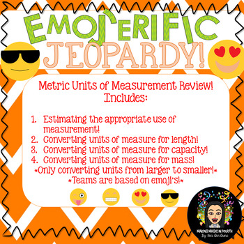 Emoji Jeopardy! Metric Units of Measurement Review!