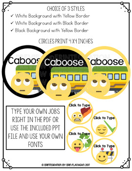 Emoji Job Chart: Editable Classroom Decor