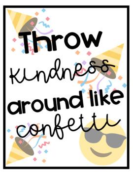Emoji Kindness Poster Freebie