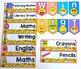 Emoji Classroom Labels Editable