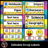 Editable Classroom Labels, Name Labels, Book Labels (Emoji)