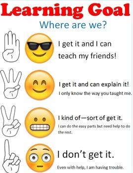 Emoji Learning Goal/Scale