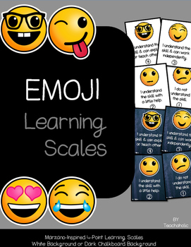 Emoji Learning Scales - Classroom Decor