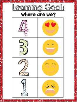 Emoji Learning Target Poster