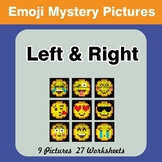 Emoji: Left & Right side - Color by Emoji - Mystery Pictures