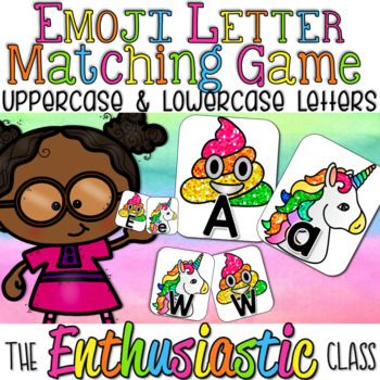 Emoji Letter Matching Game: Uppercase and Lowercase Letters