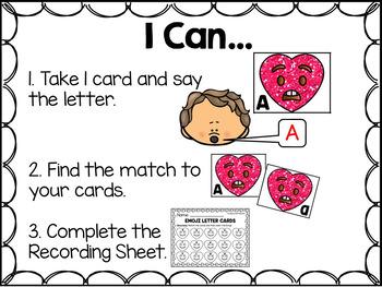 Emoji Letter Recognition Literacy Center