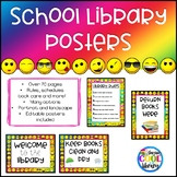 Emoji Library Poster Set (Rainbow Background)