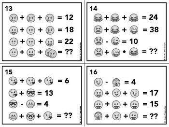 Emoji Logic Puzzles for Back to School or Sub Plans