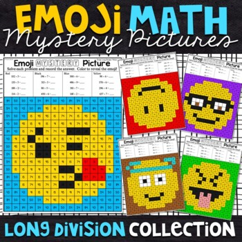 Emoji Long Division Mystery Pictures