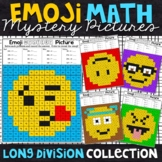 Emoji Long Division Mystery Pictures   Division Color by Number