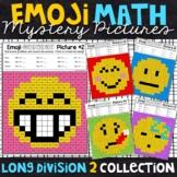 Emoji Long Division Worksheets (with Remainders)   Long Division Practice