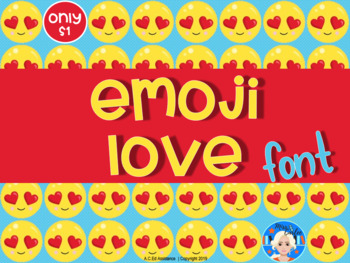 Emoji Love Letters and Numbers Font Clip Art