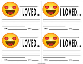 "Emoji ""Love"" Motivation Note"