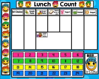 Emoji Lunch Count Bundle for Smartboard - Special Edition