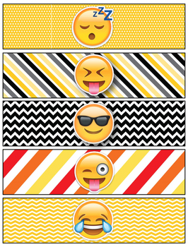 Emoji Lunchbox Notes, Jokes, and Bottle Wraps
