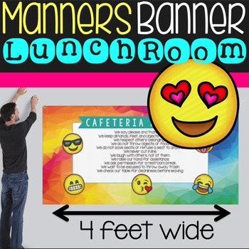 Emoji Manners Banner for the Cafeteria {HARD GOOD 2FT X 4F