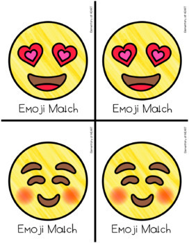 Emoji Match Cards- Memory or Partner Cards